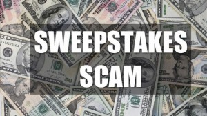 Sweepstakes scams