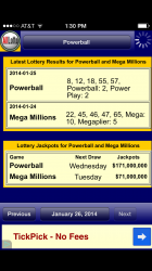 AllLotto app for iPhone