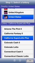 LottoWizard Lite app for iPhone