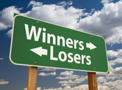 Lottery winners, losers in love