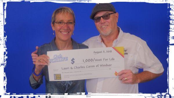 Lauri and Charles Caron - Lifetime Lottery Winners