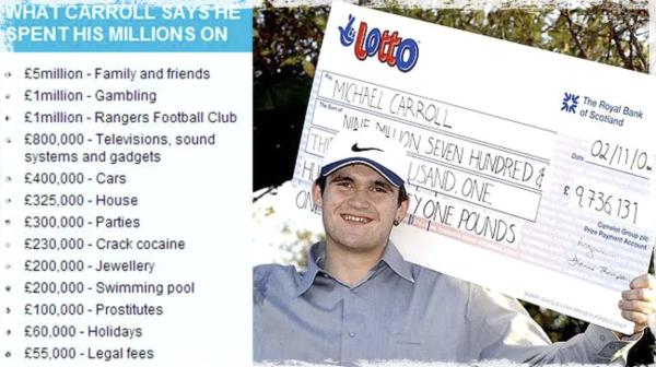 How Michael Carrol spent lottery millions